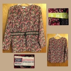 Floral blouse by Faded Glory size 3X.